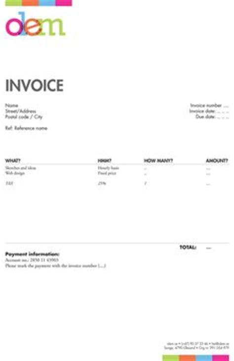 cute photoshop invoice template that i ve used for