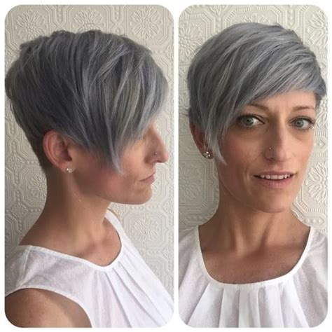 women s undone textured lob with long side swept bangs and pale women s textured platinum undercut pixie with long side