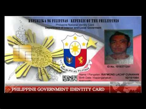 Local Id philippine government identity card to be issue