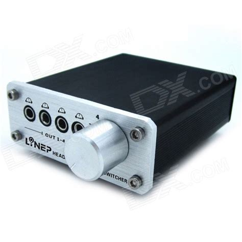Switch Audio 3 5mm mp3 switch audio headphone output switcher black 4 in 4 out free shipping dealextreme