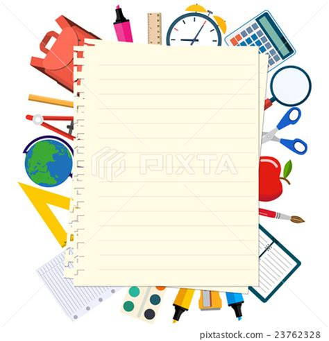 back to school templates welcome back to school template stock illustration