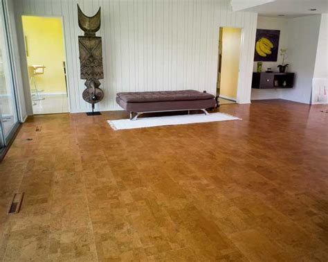Cork Flooring Cut from large cork board stock is a new