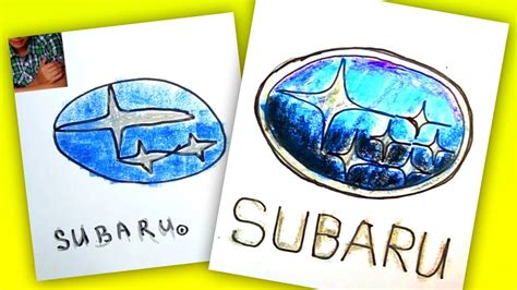 subaru emblem drawing how to draw subaru logo auto logo car youtube