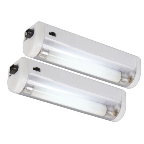 Shop Amertac 2 Pack White Fluorescent Night Light At Lowes Com Battery Lights