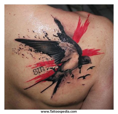 swallow tattoo on shoulder meaning tony baxter