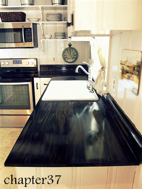 diy black wood countertops dazzling diy countertop transformations networx