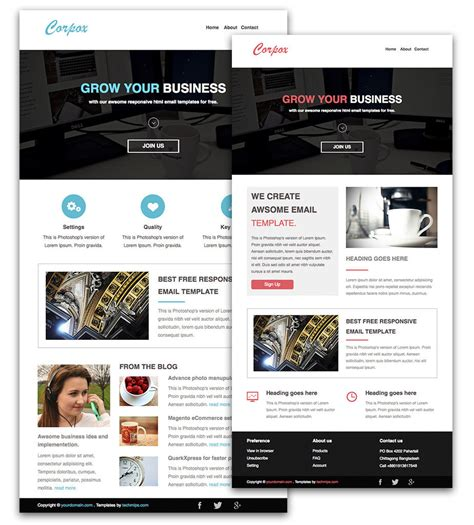 mailchimp newsletter templates free download templates