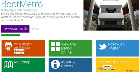 templates bootstrap windows 8 free metro ui templates to create windows 8 metro style