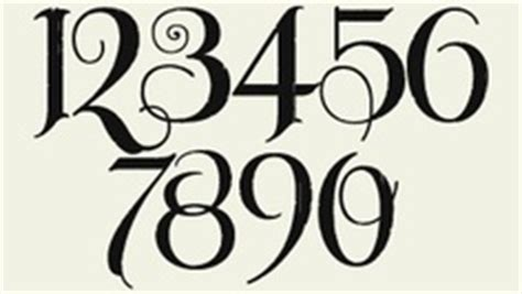 tattoo old english numbers numbers in old englash clipart best
