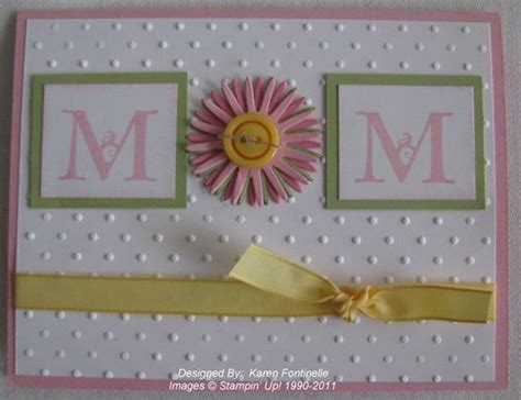 Simple Handmade Mothers Day Cards - stin up easy handmade card for mother s day