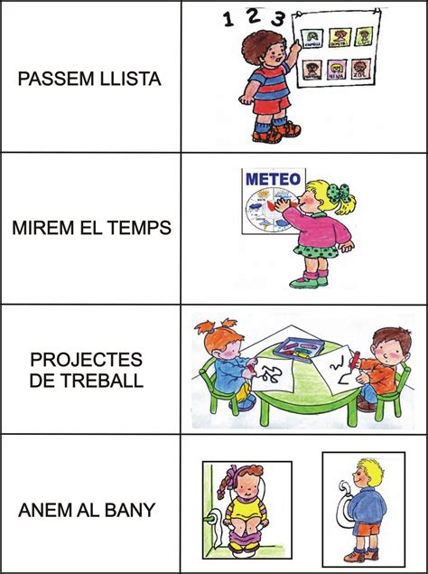 imagenes rutinas escolares dirigiendo manitas organitzaci 243 del temps per rutines