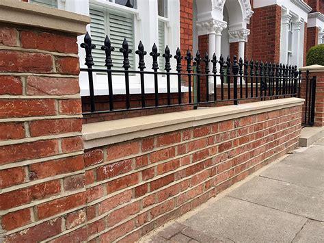 contemporary railings for garden brick walls garden clipgoo