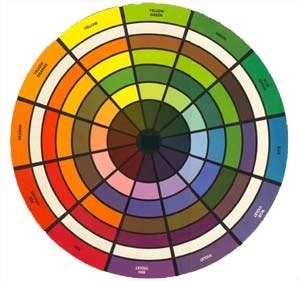 color wheel home decor
