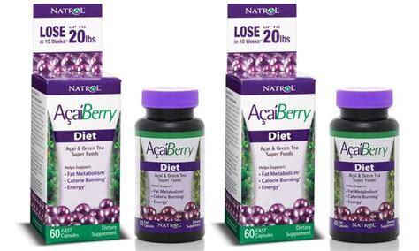 Natrol Acaiberry Diet Acai And Green Tea Foods Murah buy one get one free natrol acaiberry diet weight loss support groupon