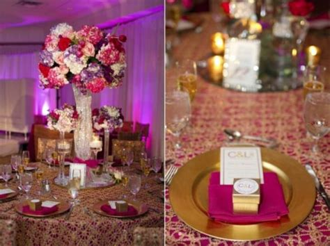 pics from our colorful cultural wedding fuschia purple and gold