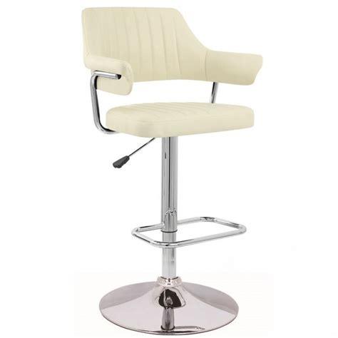 padded swivel bar stools cream modern emper padded swivel faux leather breakfast