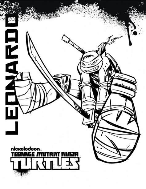 teenage mutant ninja turtles coloring pages  board