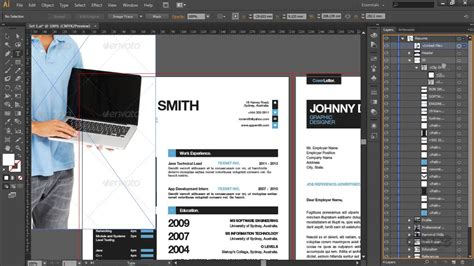 illustrator template simple resume cv template and mini portfolio