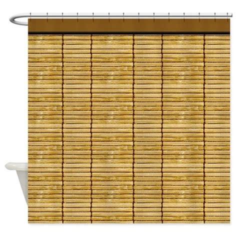 slat curtains tan wooden slat blinds shower curtain by digitalrealityart