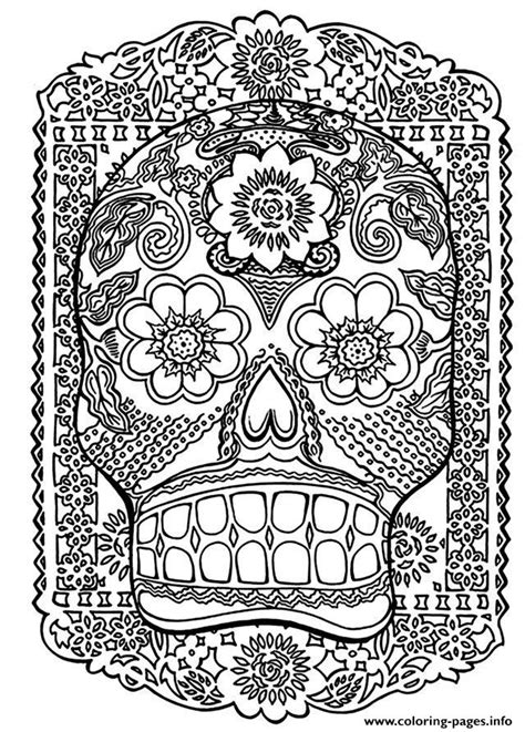 free printable coloring pages for adults zen adult zen anti stress skull head antistress coloring pages