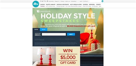 Www Hgtv Sweepstakes Com - hgtv com holidaystylesweepstakes hgtv and overstock com s holiday style sweepstakes