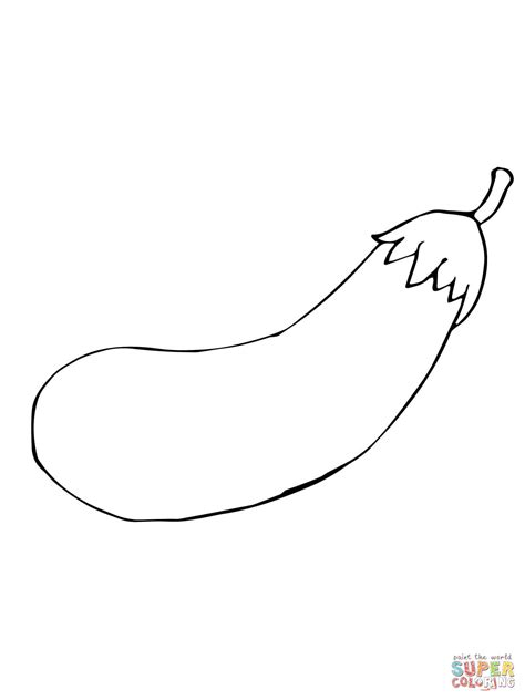 eggplant coloring pages solanum melongena eggplant coloring page free printable