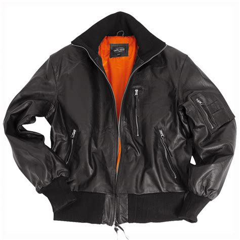 Jacket Bomber Bw classic bw german army style leather mens flight pilot bomber jacket black s 4xl ebay