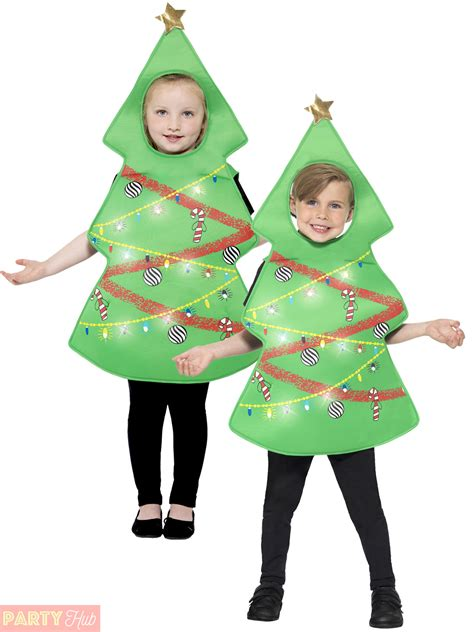 child light up christmas tree costume boys girls festive
