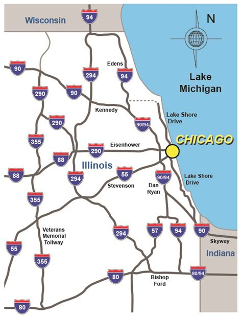 map of chicago road construction chicago freeway map afputra