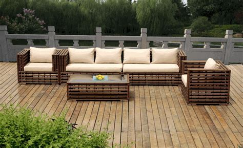 Wicker Sectional Patio Furniture Sale by Beautiful Outdoor Patio Wicker Furniture Seating 5 Pc Set