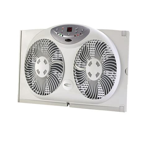 bionaire twin window fan bionaire 9 in twin window fan with remote control bw2300