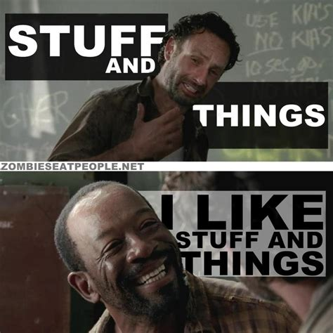 Walking Dead Stuff And Things Meme - rick grimes morgan the walking dead stuff n things