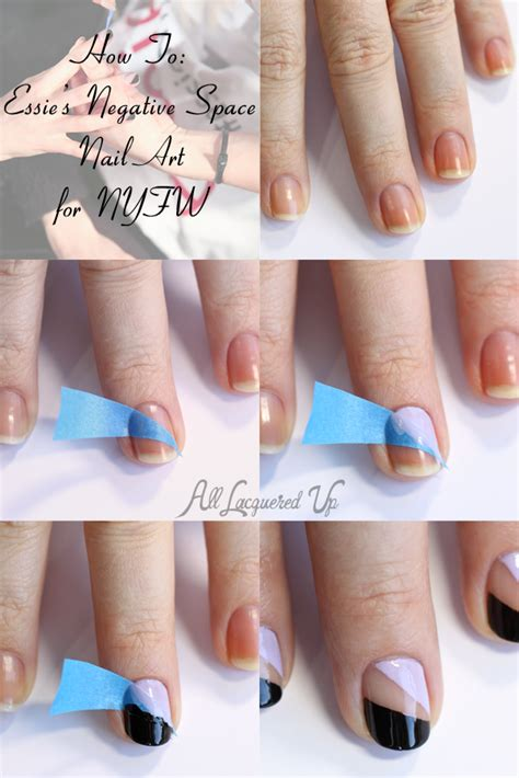 nail art tutorial essie nail art tutorial essie negative space nail art from