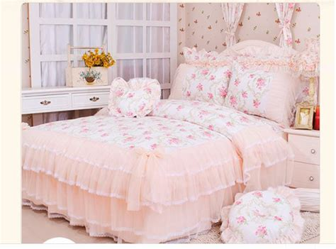queen size princess comforter pastoral lace comforter duvet cover queen king size 4pcs