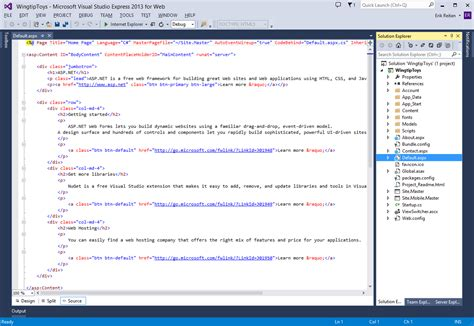 web layout centered create the project microsoft docs