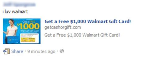 1000 Walmart Gift Card Scam - get a free 1 000 walmart gift card facebook scam