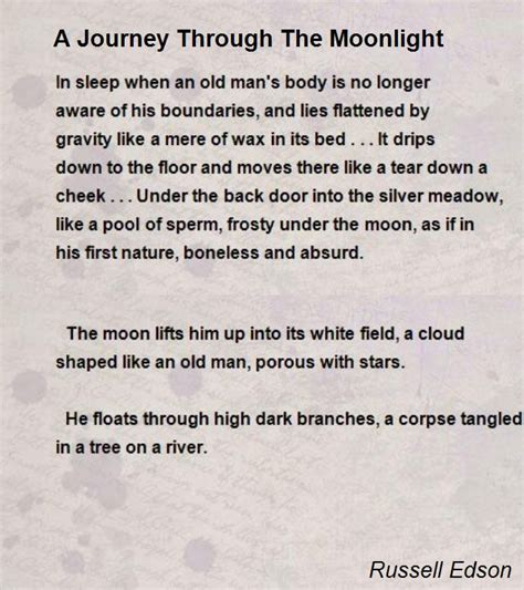 bright silver moon a journey story books a journey through the moonlight poem by edson