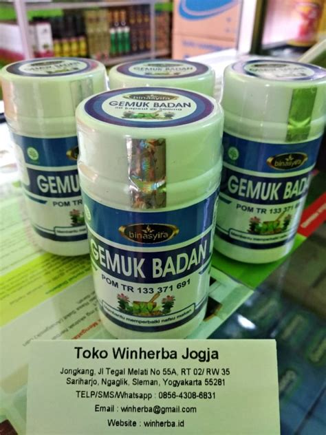 Jual Obat Gemuk Herbal kapsul herbal gemuk badan binasyifa distributor herbal