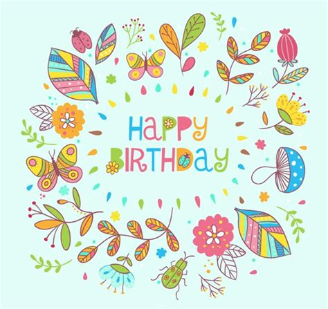 Undangan Ulang Tahun Birthday Invitation Colorful Theme flower birthday cards vector graphics my free