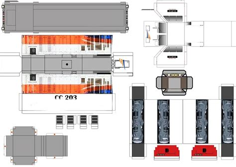 Pola Papercraft - pola papercraft kereta api indonesia foto
