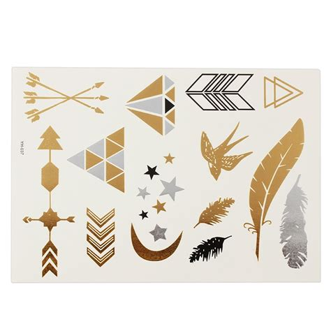 flash tattoo kaufen schweiz metallic flash temporary tattoo 5 b 246 gen klebetattoos gold