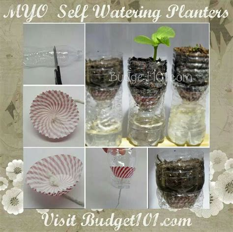 diy self watering planter diy self watering planters diy ideas crafts and hobbies pint