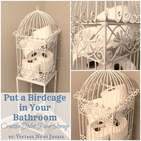 bathroom toilet paper storage birdcage in your bathroom a unique storage solution