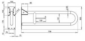 Toilet Grab Bar Dimensions Vertical Swing Grab Bar Bg0800cs Mediclinics