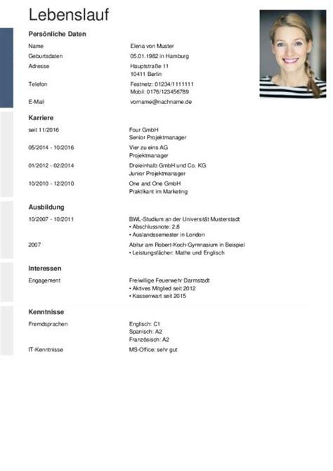 Lebenslauf Vorlagen Pdf sch 246 n lebenslauf profil beispiele zeitgen 246 ssisch entry