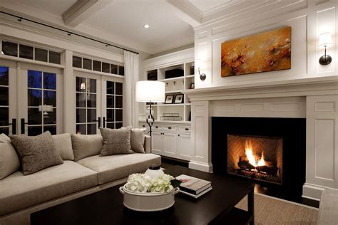 built ins for living room houzz fireplace mantels living room traditional with beige