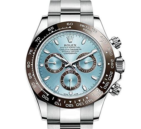 Brand Name Men's Watches   Rolex Cosmograph Daytona Ice Blue Dial Platinum Mens Watch 116506IBLSO