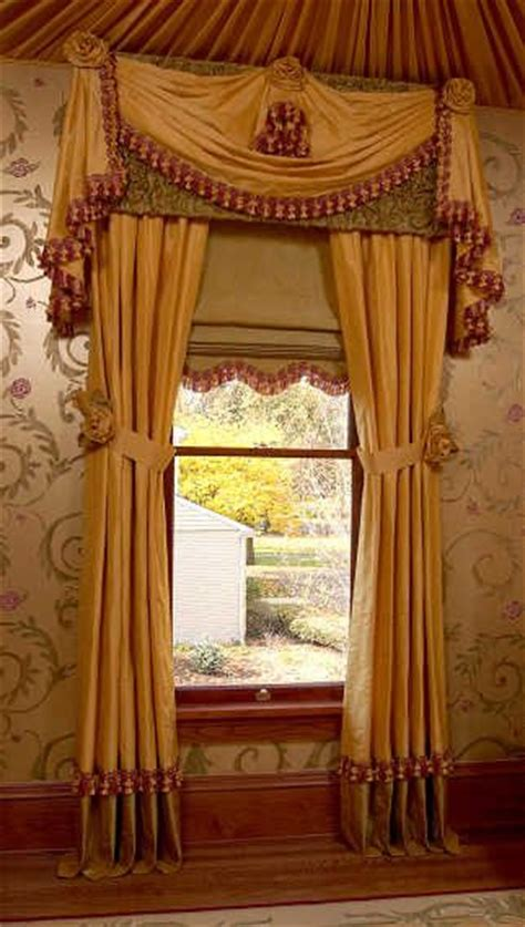 Traditional Style Window Treatments Traditional | drapery panels shade valance swag jabots traditional