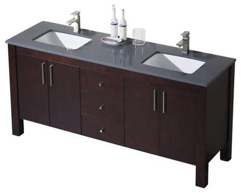 Parsons Vanity by Parsons 72 Vanity Chestnut Beige Sink Gray