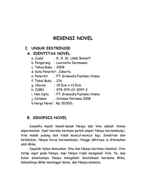 Unsur Intrinsik Novel Sunda   Cerpen